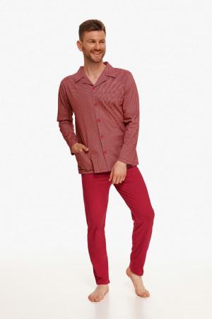 Pánské pyžamo Taro Richard 2637 dł/r 4XL-6XL Z'22 bordowy 6XL