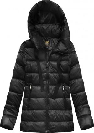 Černá dámská zimní bunda s kapucí (7698) czarny L (40)