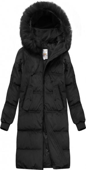 Černá dámská manžestrová bunda s kapucí (7763) czarny XL (42)