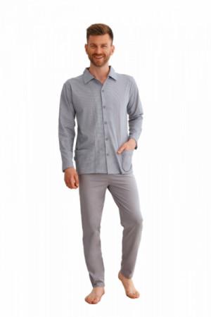 Taro Richard 2637 Z'22 Pánské pyžamo plus size 6XL bordová