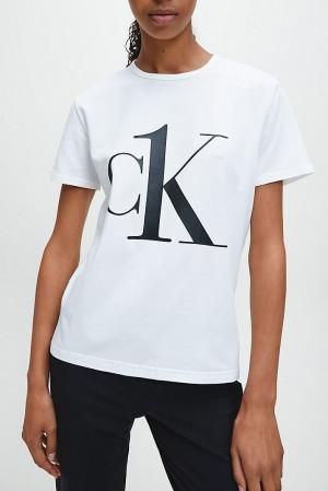 Calvin Klein Tričko CK ONE SS Crew White