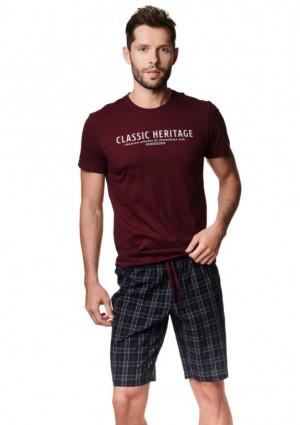 Pánské pyžamo Henderson 39258 2XL Hnědá
