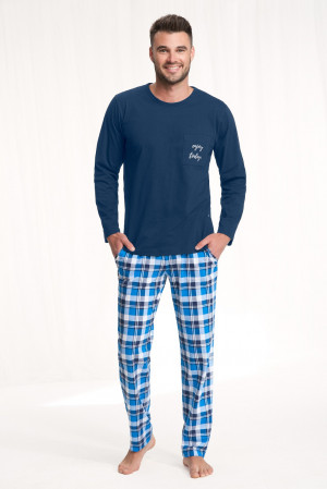 Pánské pyžamo Luna 705 dł/r M-2XL bordowy