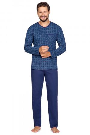 Pánské pyžamo Regina 595 dł/r 2XL námořnická modrá