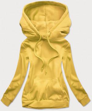 Žlutá dámská tepláková mikina (W02-69) żółty S (36)