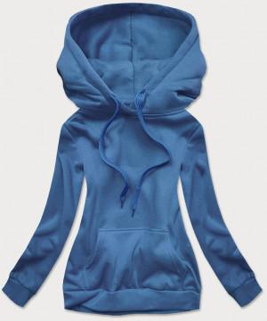 Světle modrá dámská tepláková mikina (W02-16) niebieski S (36)