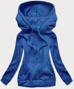Světle modrá dámská tepláková mikina (W02-17) niebieski S (36)