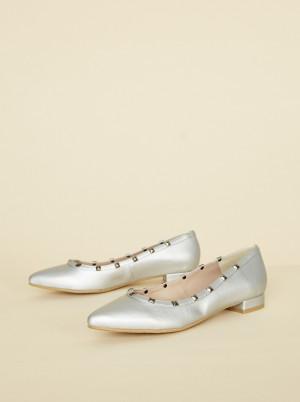 OJJU stříbrné baleríny -