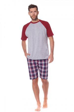 Pánské pyžamo KR.KR.2165 GRANATOWY 3XL