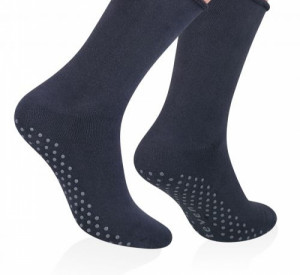 Pánské zateplené frotte ponožky 013 - Steven tmavě šedá 44-46