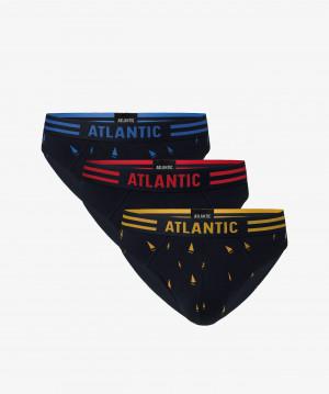 Pánské slipy Atlantic 3MP-098 A'3 czarny