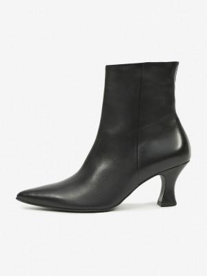 Högl černé kotníkové boty Loreen na podpatku -