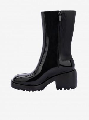 Melissa černé kotníkové na podpatku boty Nancy Boot -