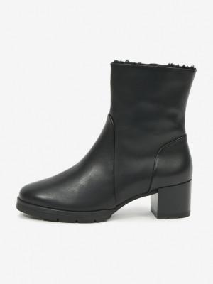 Högl černé kotníkové boty Debora na podpatku -
