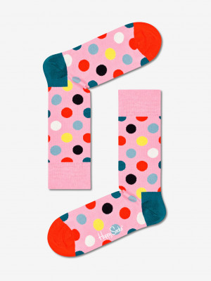 Big Dot Ponožky Happy Socks Růžová
