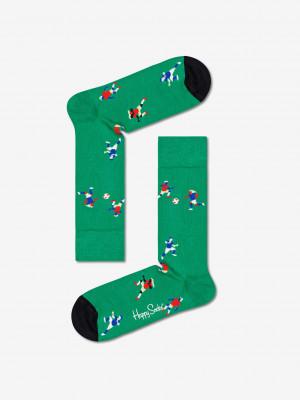 Football Ponožky Happy Socks Zelená
