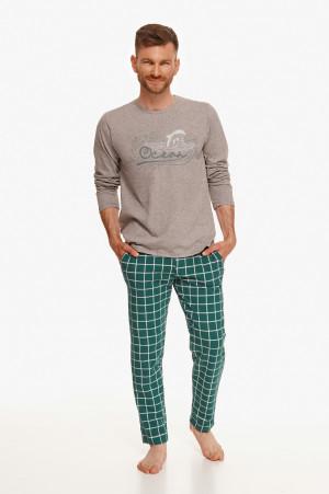 Pánské pyžamo Taro Matt 2631 dl/r L-2XL Z'22 grafitowy