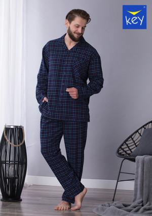Pánské pyžamo MNS 458 B21 GRANATOWY 2XL