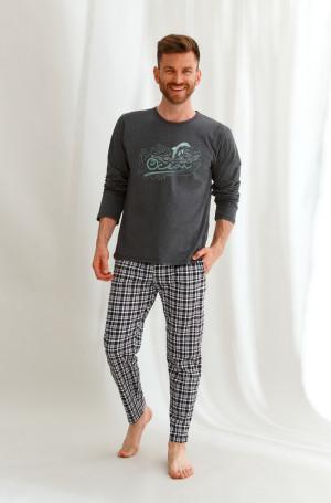 Pánské pyžamo dlouhé 2631 MATT ZIMA 2021 GRAFITOWY