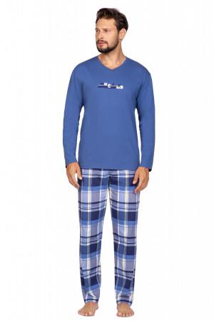 Pánské pyžamo Regina 587 dł/r M-XL bordowy