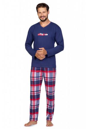 Pánské pyžamo Regina 587 dł/r 2XL bordowy
