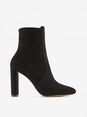 ALDO černé kotníkové boty Aurellane v semišové úpravě -