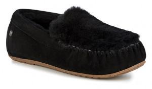 Emu černé podzimní mokasíny Cairns Reerse Fur Black/Noir  -