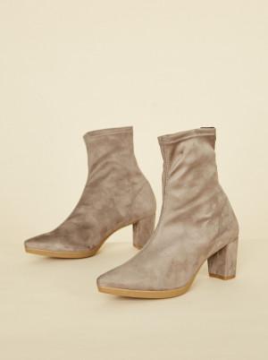 OJJU béžové semišové kotníkové boty -