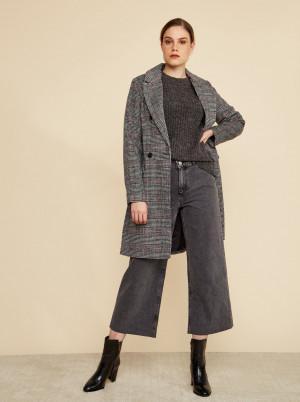 ZOOT šedý kostkovaný kabát Gabrielle