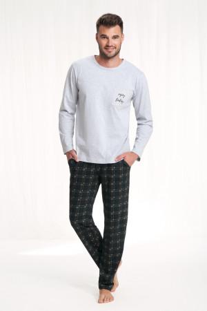 Pánské pyžamo 705 3XL MELANGE SZARY 3XL