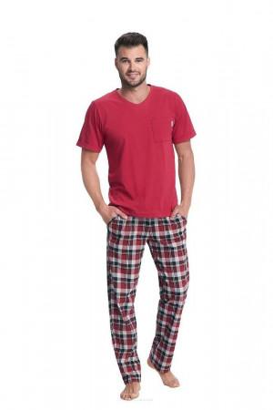 Pánské pyžamo Luna 778 kr/r 3XL bordowy 3XL