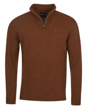Zapínací svetr Barbour Essential Lambswool Half Zip - Sandstone