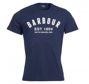Tričko Barbour Ridge Logo Tee - Navy