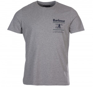 Lehké bavlněné tričko Barbour Reed Tee - Grey Marl