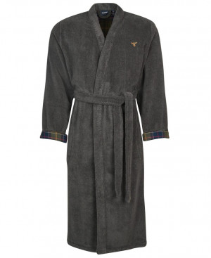 Župan Barbour Lachlan Dressing Gown - Charcoal