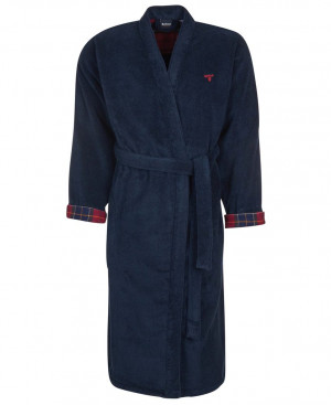 Župan Barbour Lachlan Dressing Gown - Navy