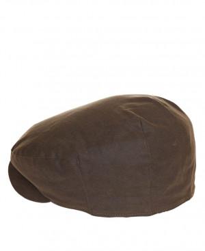 Zimní bekovka Barbour Cheviot Wax Cap - olivová