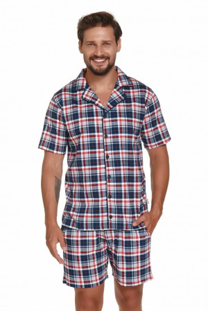 Pánské pyžamo Dylan modro-červené červená
