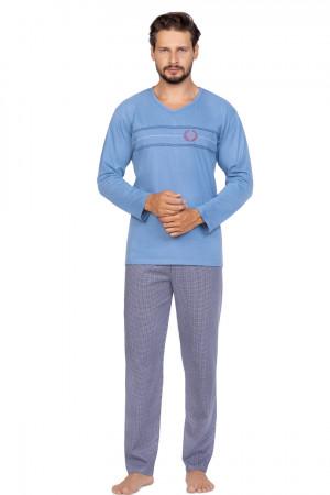 Pánské pyžamo 588 ORNAMENT NIEBIESKI