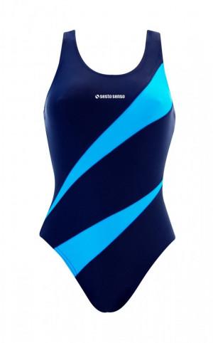 Jednodílné dámské plavky 729 GRAFITOWY