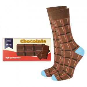 Ponožky SOXO GOOD STUFF - Čokoláda/kartonová krabička BRĄZOWY 35–40