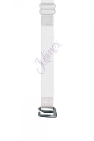 Silikonová ramínka RT 04 - Julimex průhledná-bílá 10mm