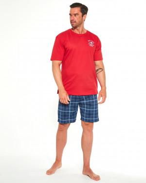 Pánské pyžamo Cornette 326/184 Base Camp 2 kr/r S-2XL czerwony