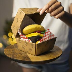 Ponožky SOXO GOOD STUFF Hamburger v krabičce CZERWONY/ŻÓŁTY/ZIELONY/CZARNY 35–40