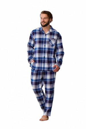 Key MNS 498 B21 Pánské pyžamo XXL tmavě modrá-kostka