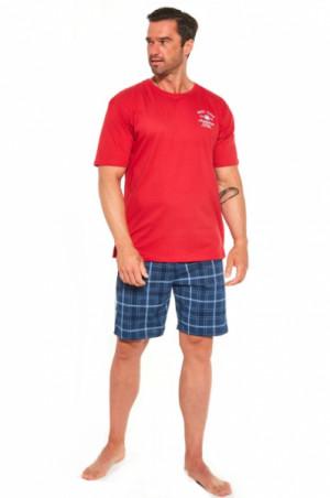 Cornette 326/184 Base Camp 2 Pánské pyžamo S červená