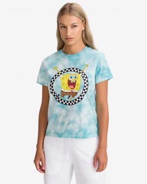 Vans modré tričko SpongeBob