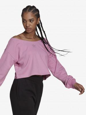 Slouchy Crop top adidas Originals Růžová