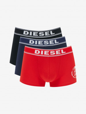 Boxerky 3 ks Diesel Červená