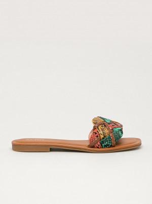 Zeleno-žluté dámské vzorované pantofle ALDO Lothelalian -